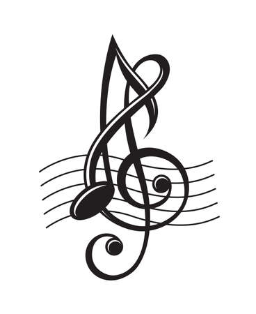 음악의 흑백 그림은 구멍이에 노트 스톡 콘텐츠 - 49162005