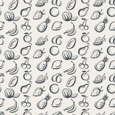 summer diet: seamless background of various fruits