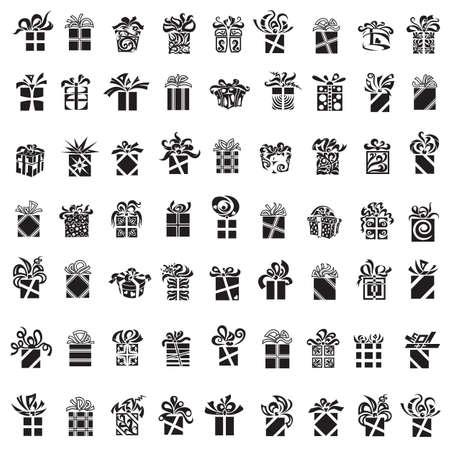 eleganz: Sammlung von Schwarz-Weiß verschiedene Geschenk-Boxen