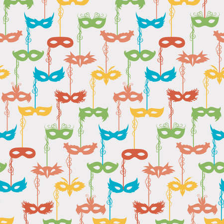carnival masks: seamless pattern of carnival masks