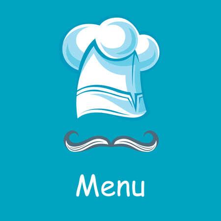 hombre caricatura: dise�o con el sombrero del cocinero y bigote Vectores