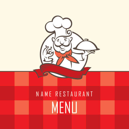 piatto: menù di progettazione di chef con vassoio