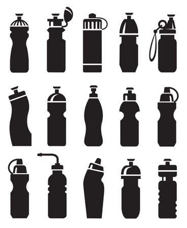 water bottles: set of different water bottles for sport