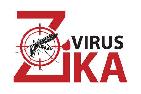 蚊のジカ ウイルス アラートの画像禁止サイン