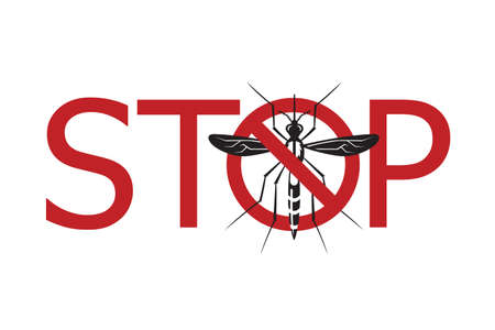 suck blood: image of Zika virus alert with mosquito prohibited sign