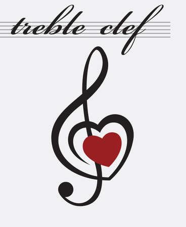 chiave di violino: in bianco e nero icona della chiave di violino