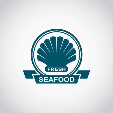 scallop: monochrome seafood icon with scallop