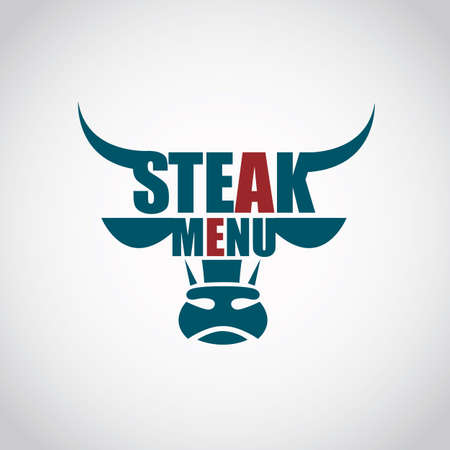 restaurant menu beef meat icon Illustration