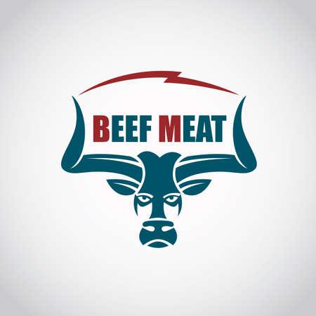 haunch: restaurant menu beef meat icon Illustration