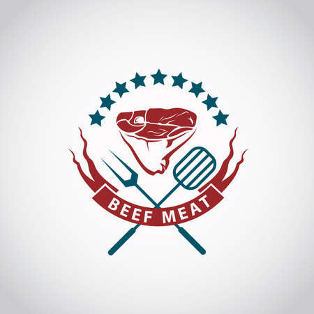 meat: restaurant menu beef meat icon Illustration