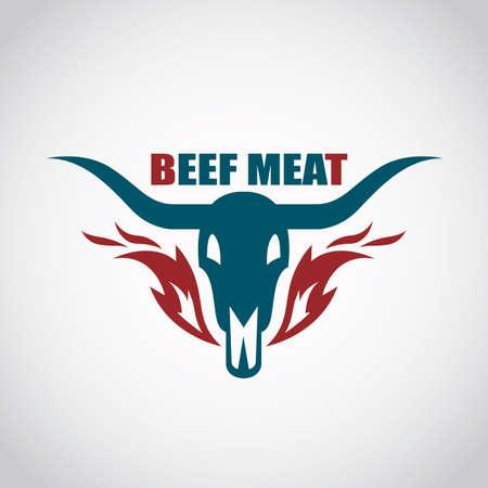 steak beef: restaurant menu beef meat icon Illustration