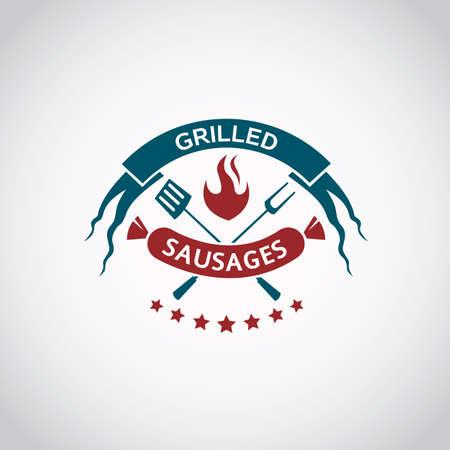 sausage: barbecue and grill icon graphic design