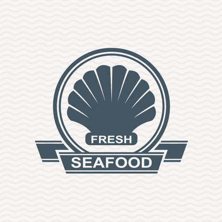 petoncle: monochrome ic�ne de fruits de mer avec p�toncles