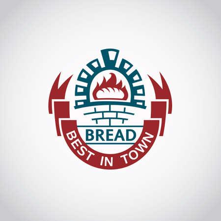 bake: bakery label image with ribbon and bake