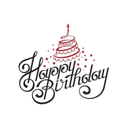 happy birthday card design with cake