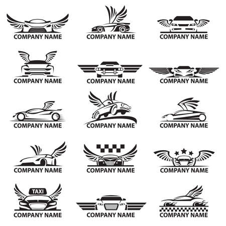 collection of car logos with wings