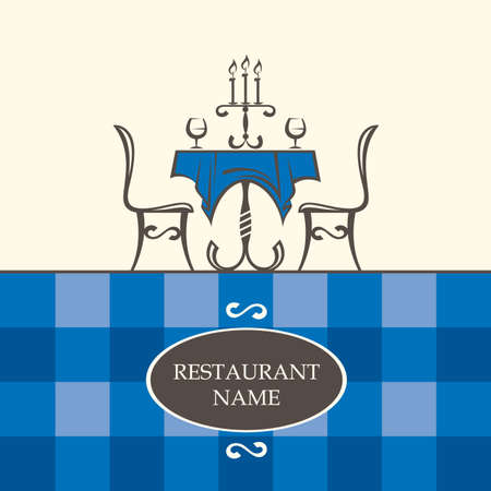 table decor: restaurant menu design with table and chairs