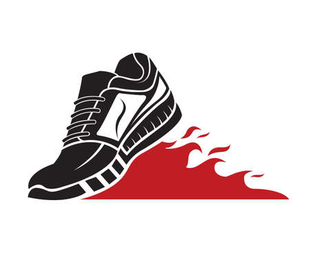 running shoe: speeding running sport shoe icon