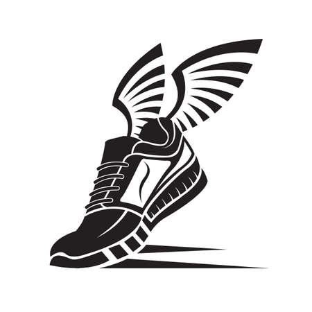 trainers: speeding running sport shoe icon