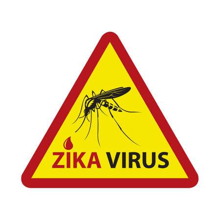 prohibido: image of Zika virus alert with mosquito prohibited sign