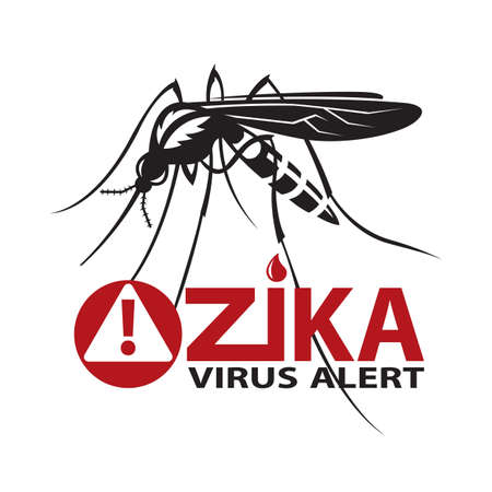 proboscis: image of Zika virus alert with mosquito prohibited sign