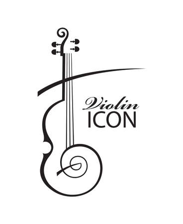 abstract illustration of violin with text