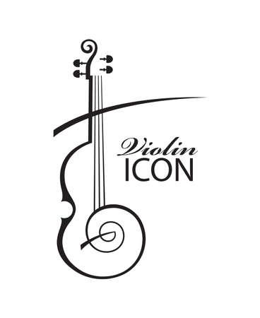 abstracte illustratie van viool met tekst