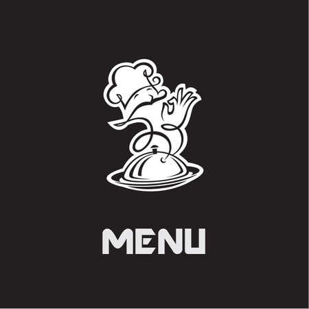 gastronomy: chef menu design on a black background