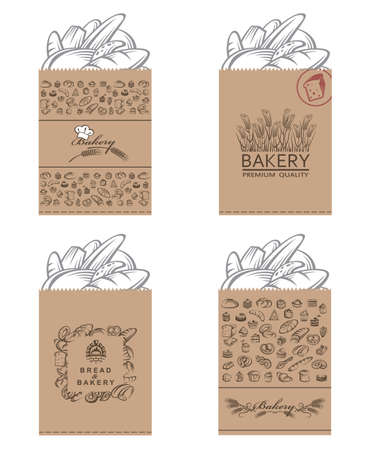 thresh: collection of various food packages with bread and bakery products