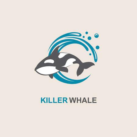 símbolo de la orca y de las olas del mar