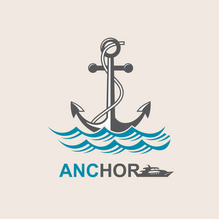 shipping: image of anchor symbol with sea waves