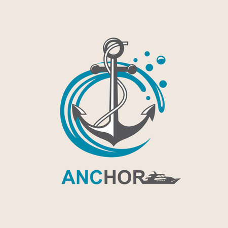 iron: image of anchor symbol with sea waves