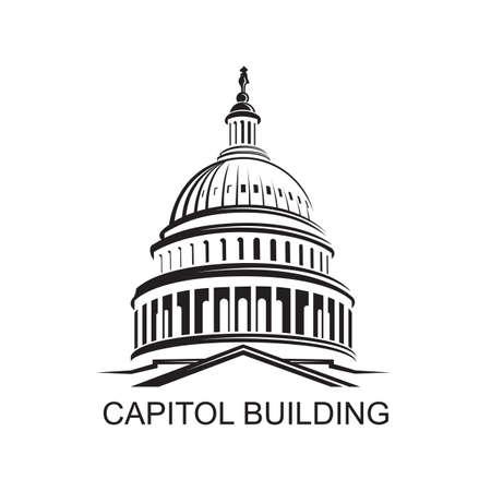 ワシントン DC の問の州の国会議事堂の建物アイコン