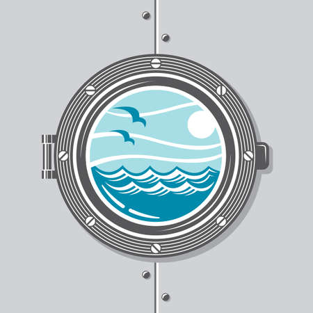 ship porthole: image of ship porthole with glass