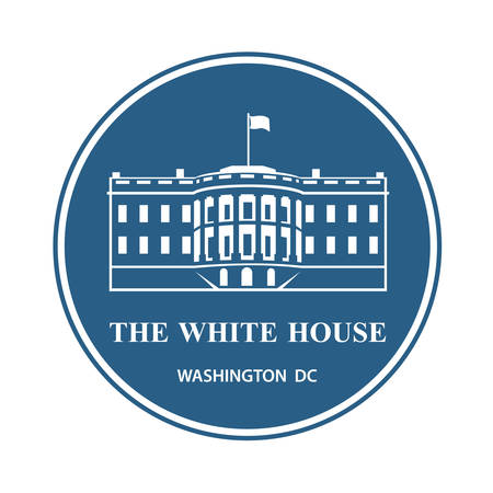 white house building icon in Washington DC