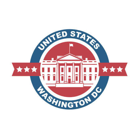congress: White house building icon in Washington DC Illustration