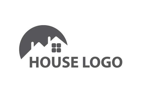domestic: Monochrome design of house logo
