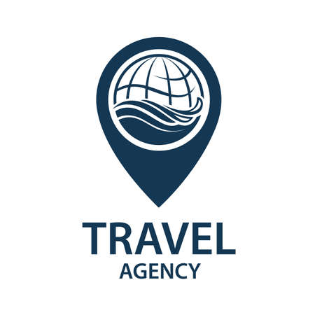icon: Earth planet globe logo for travel agency