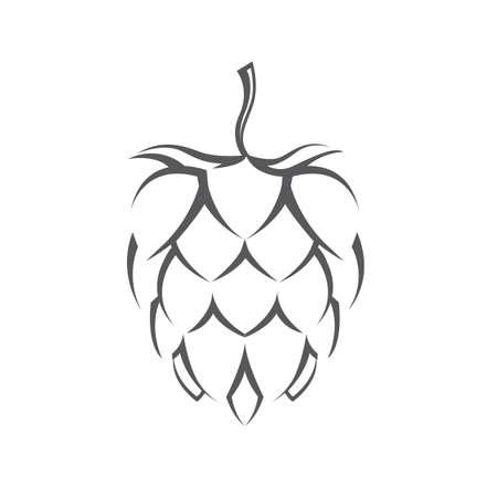 illustrazione del luppolo per birra Vettoriali