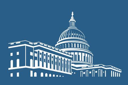 Icône de bâtiment du Capitole des États-Unis à Washington DC Illustration