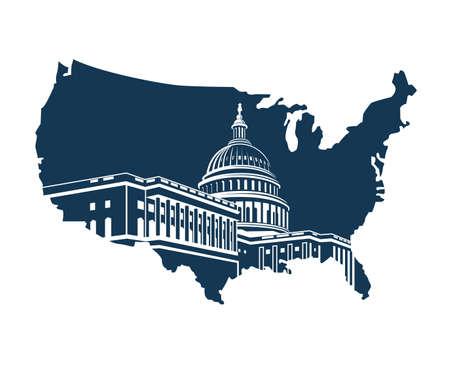 états-unis bâtiment de l & # 39 ; oklahoma à washington dc sur fond de la carte