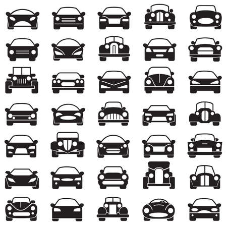 flown: set of abstract cars illustrations Illustration