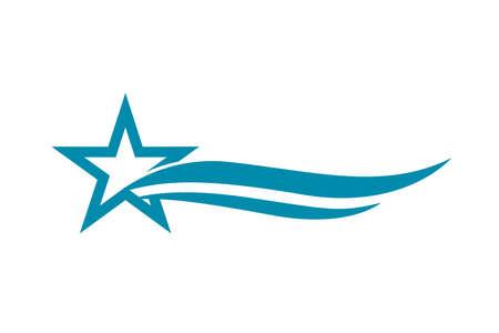 Abstract blue star logo template Stock Vector - 83870107