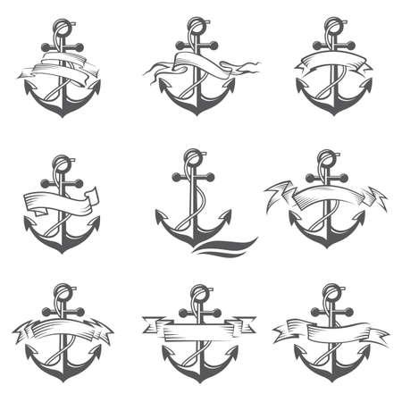 collection of anchor Ilustração