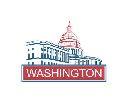 ワシントン DC のアメリカ合衆国議会議事堂のアイコン