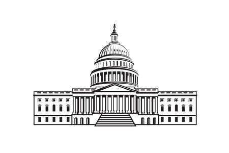 United States Capitol building icon in Washington DC  イラスト・ベクター素材