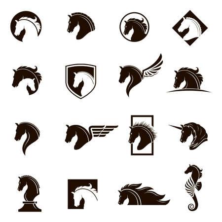 말 머리 아이콘의 컬렉션입니다.