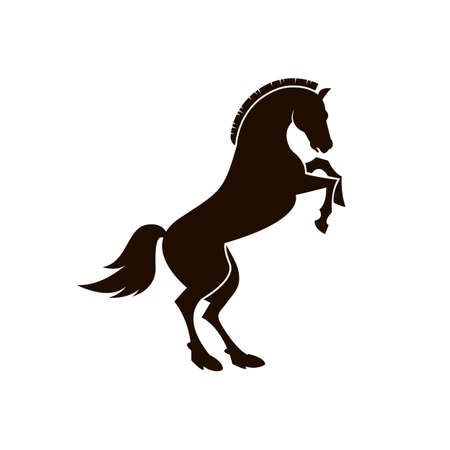 Black horse icon. Ilustrace