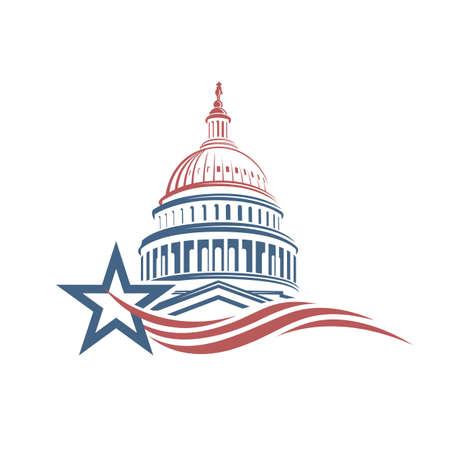 Unated States Capitol bouwpictogram in Washington DC