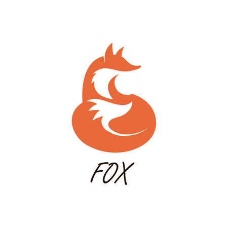 orange setting fox icon on a white background Illustration
